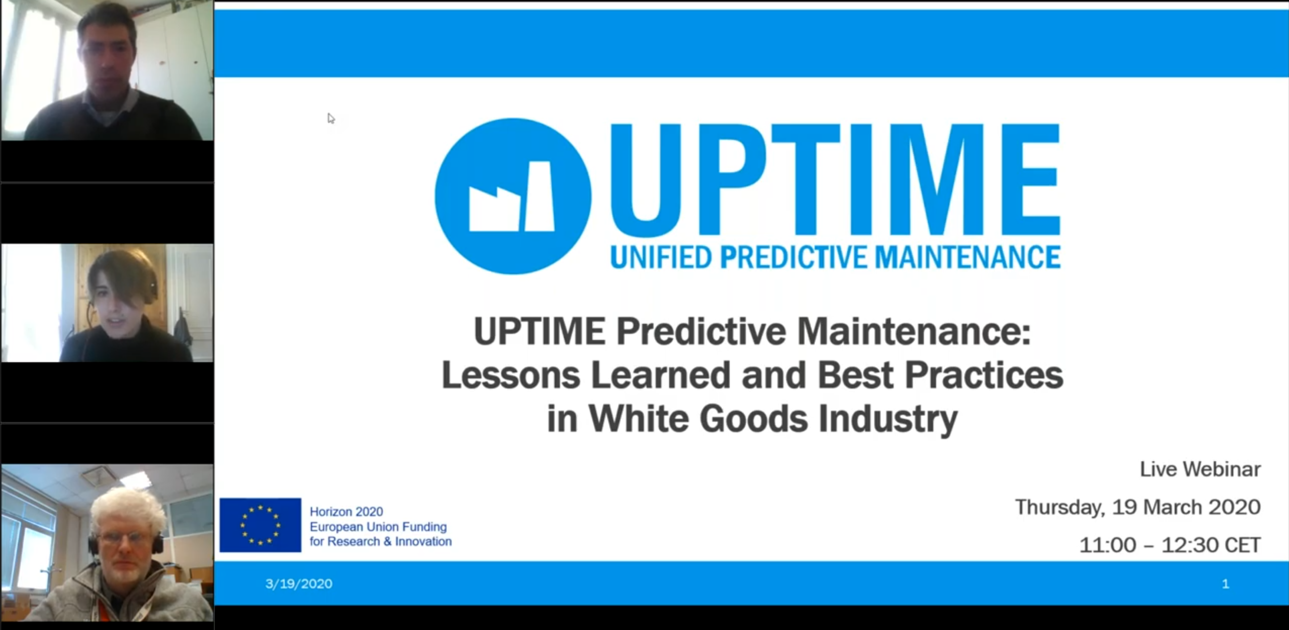 Insights & Feedbacks: UPTIME 1st Live Webinar – Lessons Learned & Best Practices in White Goods Industry